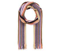 Schal - violett/ orange