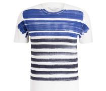 T-Shirt - offwhite/ blau