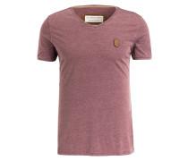 T-Shirt - bordeaux meliert