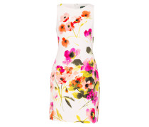 Kleid TORALINA - wollweiss/ pink/ rot