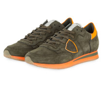 Sneaker TROPEZ - OLIV/ NEON ORANGE