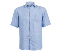 Halbarm-Hemd Modern Fit aus Leinen