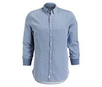 Hemd Shaped-Fit - blau/ weiss