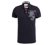 Jersey-Poloshirt Regular-Fit - dunkelblau