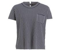 Strickshirt - navy/ weiss gestreift