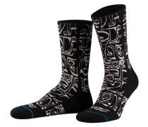 Socken FROST LETTERS - schwarz/ weiss