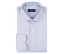 Hemd tailored fit - weiss/ hellblau
