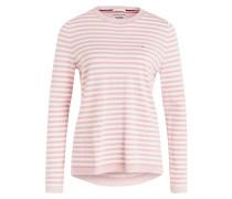 Pullover - rosa/ weiss gestreift