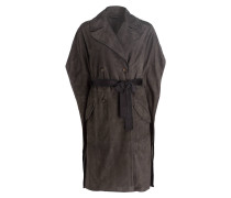 Veloursleder-Trenchcoat