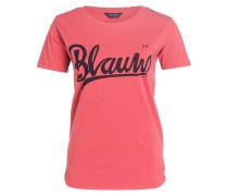 T-Shirt BLAUW - orangerot