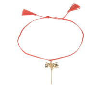 Armband PALM TREE - orangerot/ gold