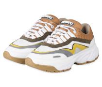 Plateau-Sneaker DEMO RUNNER - BEIGE/ WEISS