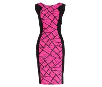 Etuikleid - schwarz/ pink