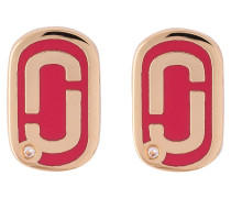 Ohrstecker DOUBLE J - gold/ rot
