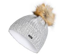 Mütze FOLINA LUX mit Kunstfellbommel
