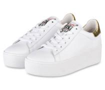Plateau-Sneaker CULT - WEISS/ GOLD