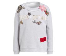 Sweatshirt mit Schmucksteinbesatz