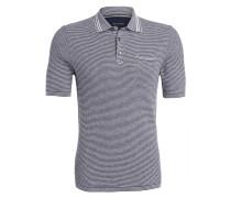 Strick-Poloshirt - dunkelblau/ weiss