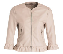 Jacke in Leder-Optik - nude