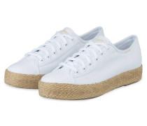 Plateau-Sneaker TRIPLE KICK - WEISS