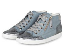 Hightop-Sneaker - hellblau/ silber