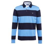 Rugbyshirt - hellblau/ dunkelblau