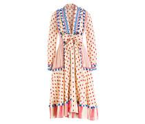 Kleid PADMA - ecru/ rot/ blau