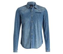 Jeanshemd Regular-Fit - blau