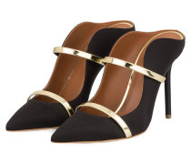 Mules MAUREEN 100 - SCHWARZ/ GOLD METALLIC