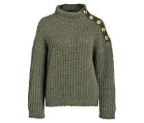Pullover mit Alpaka-Anteil - khaki