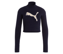 Cropped-Pullover - dunkelblau