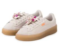 Sneaker PLATFORM FLOWER TASSEL - CREME