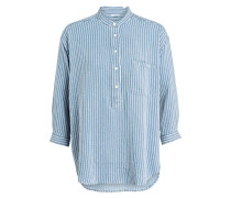 Bluse EARLY - blau/ offwhite