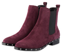Chelsea-Boots GRAZE - DUNKELROT