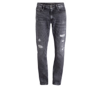 Destroyed-Jeans Slim Straight-Fit