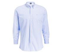 Hemd Classic-Fit - blau/ weiss gestreift