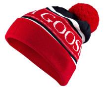 Mütze - rot/ marine/ weiss