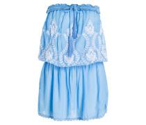 Bandeau-Kleid FRULEY - blau/ weiss