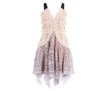 Kleid - flieder/ nude/ ivory