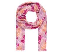 Cashmere/ Seide-Schal - orange/ pink