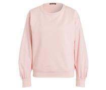 Sweatshirt im Materialmix - rosa