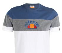 T-Shirt - blau/ grau/ weiss