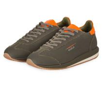 Sneaker - OLIV/ NEONORANGE