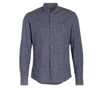 Flanellhemd KEEZ Slim-Fit mit Stehkragen