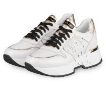Sneaker LOREN 2P - WEISS/ GOLD
