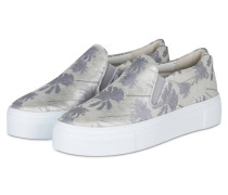 Slip-on-Sneaker BIG - SILBER/ WEISS