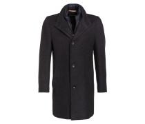 Mantel mit herausnehmbarer Blende