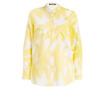 Bluse - weiss/ gelb