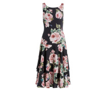 Kleid - schwarz/ rosé