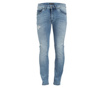 Destroyed-Jeans HOOD Skinny-Fit